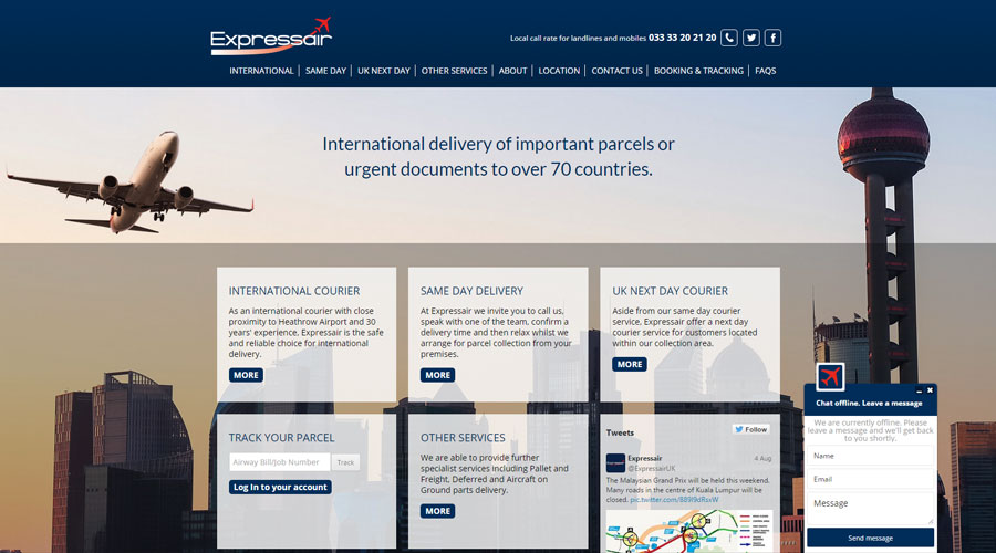 Expressair redesign website