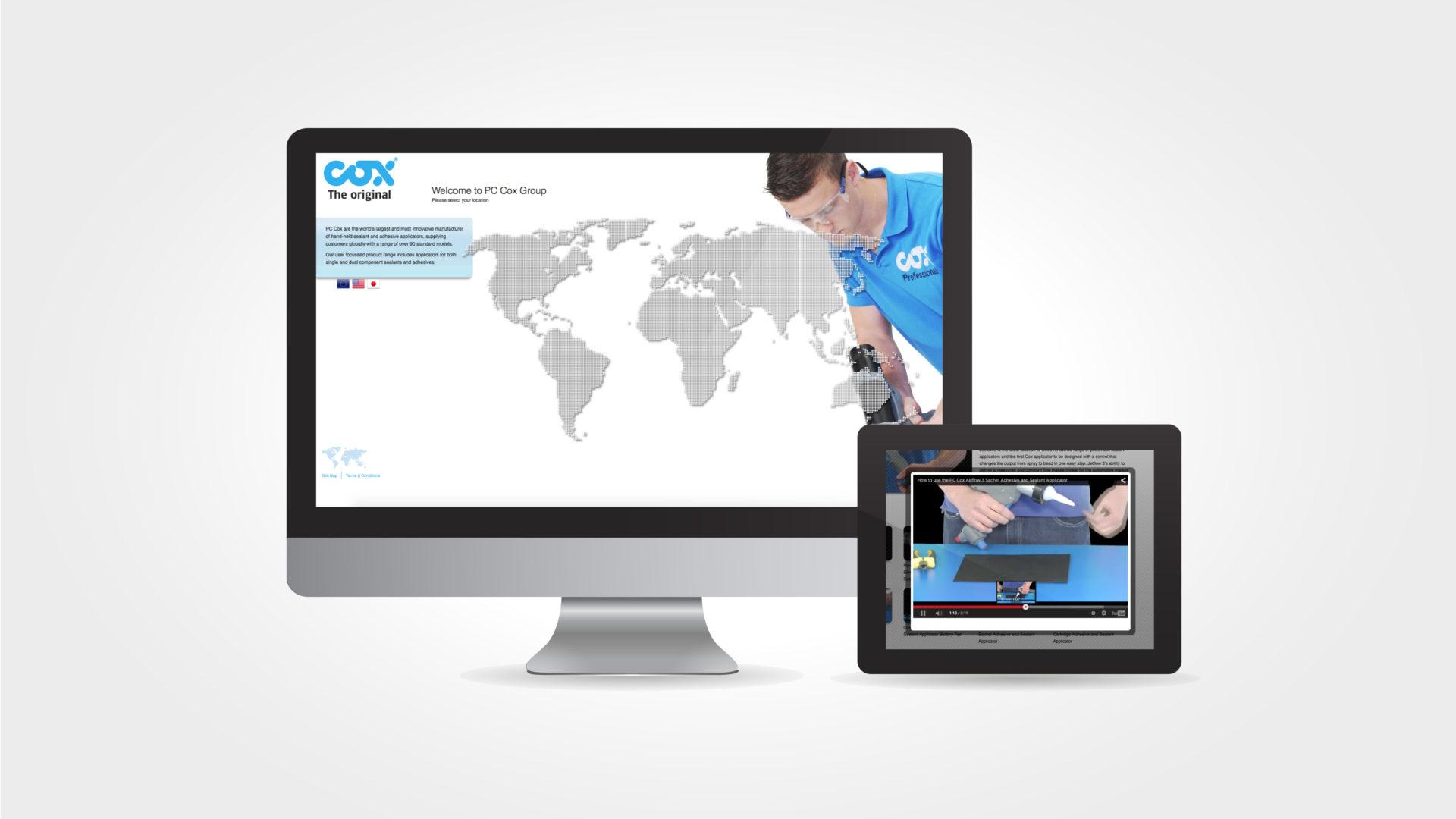 pc cox website design