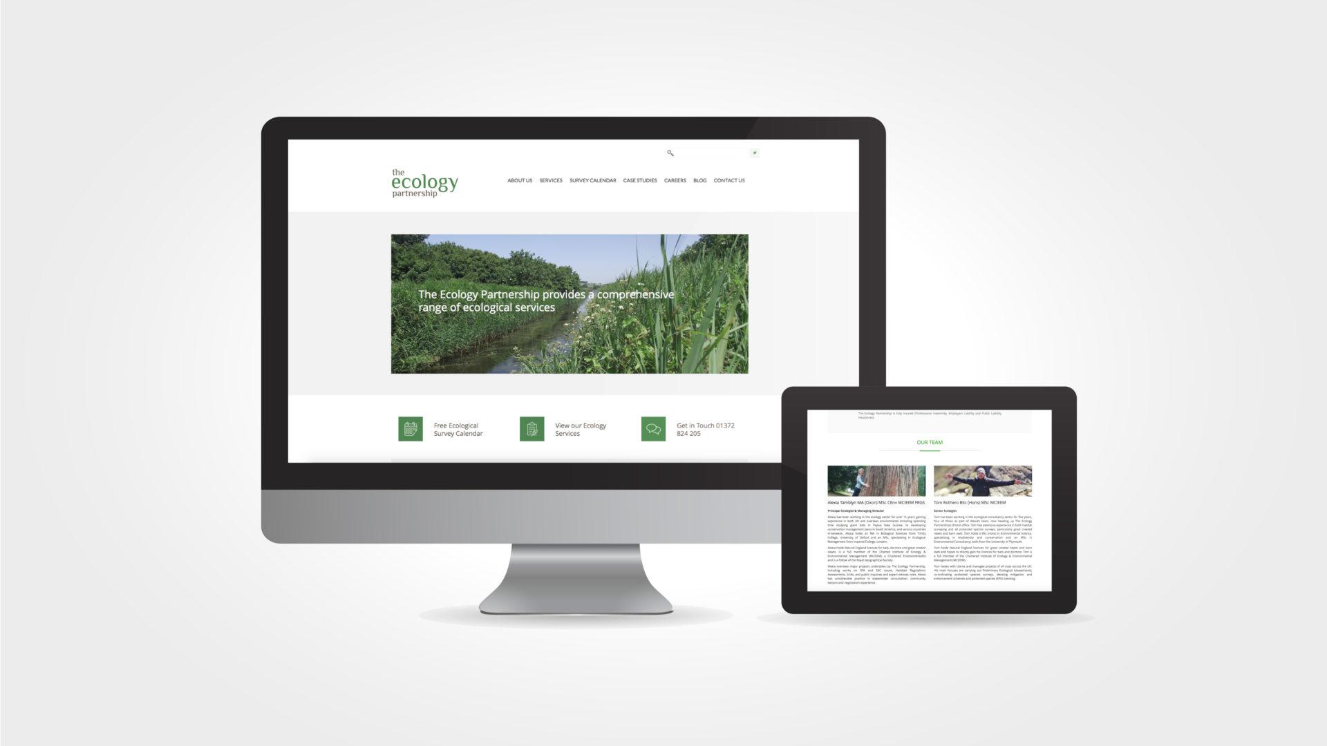 ecology partnership website design