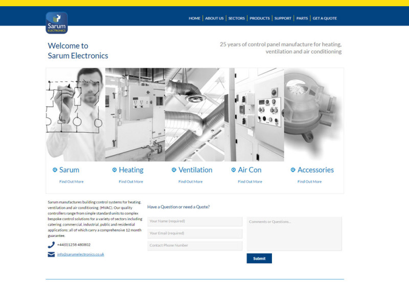 new sarum electronics website design