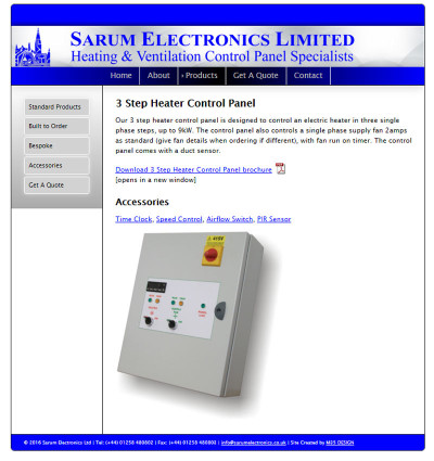 previous product page design sarum