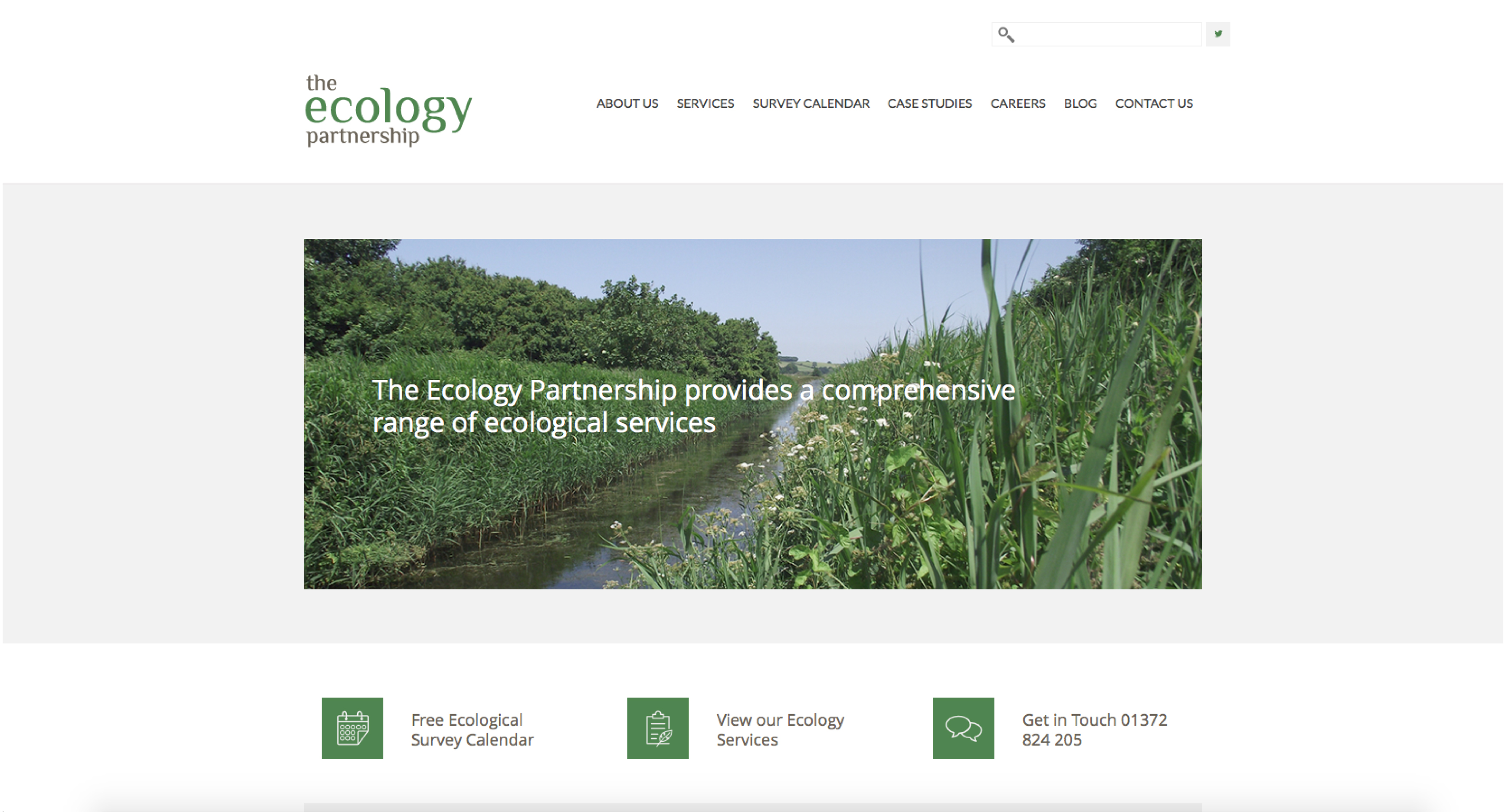 ecology partnership homepage close up
