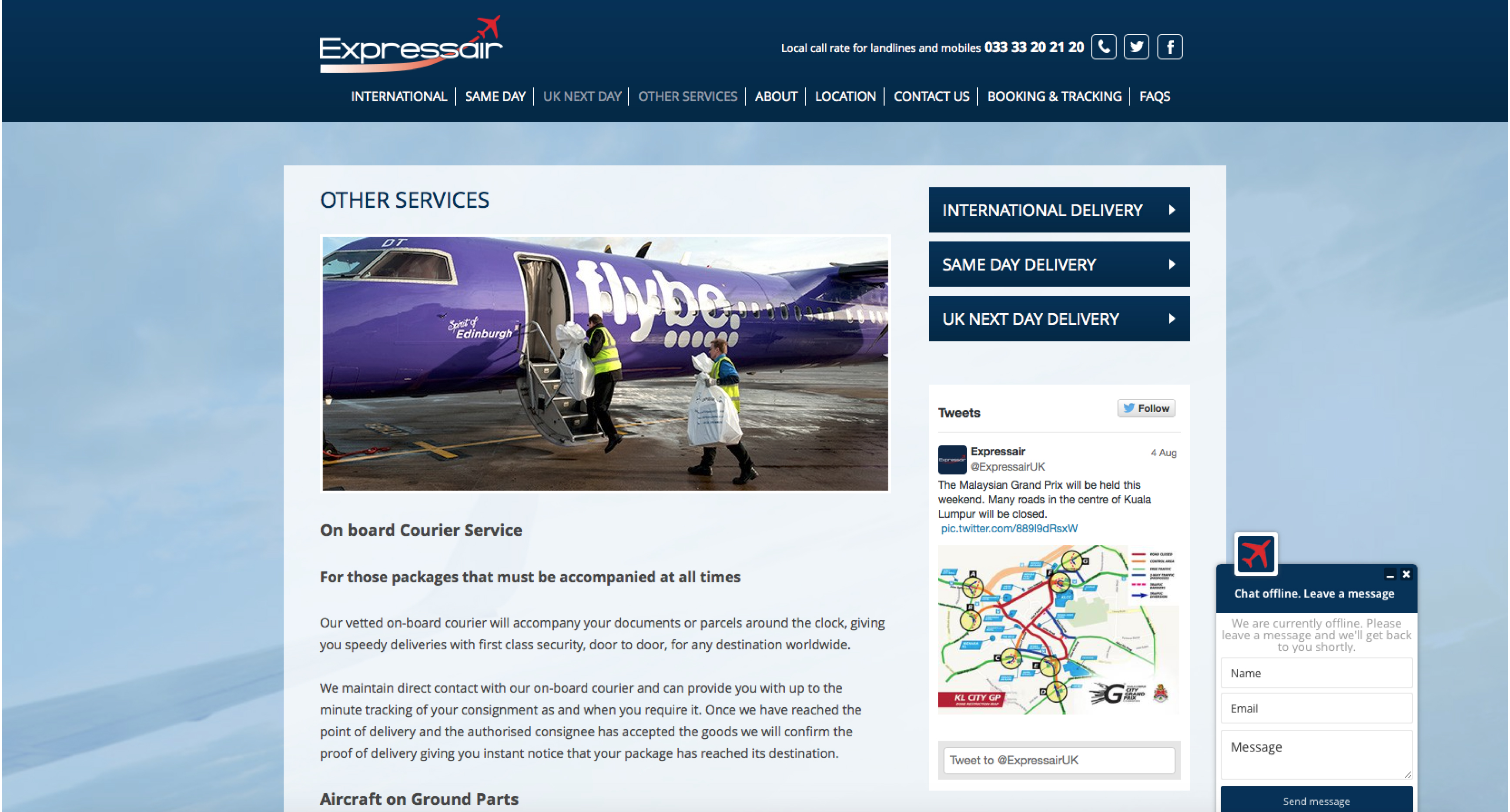 expressair website