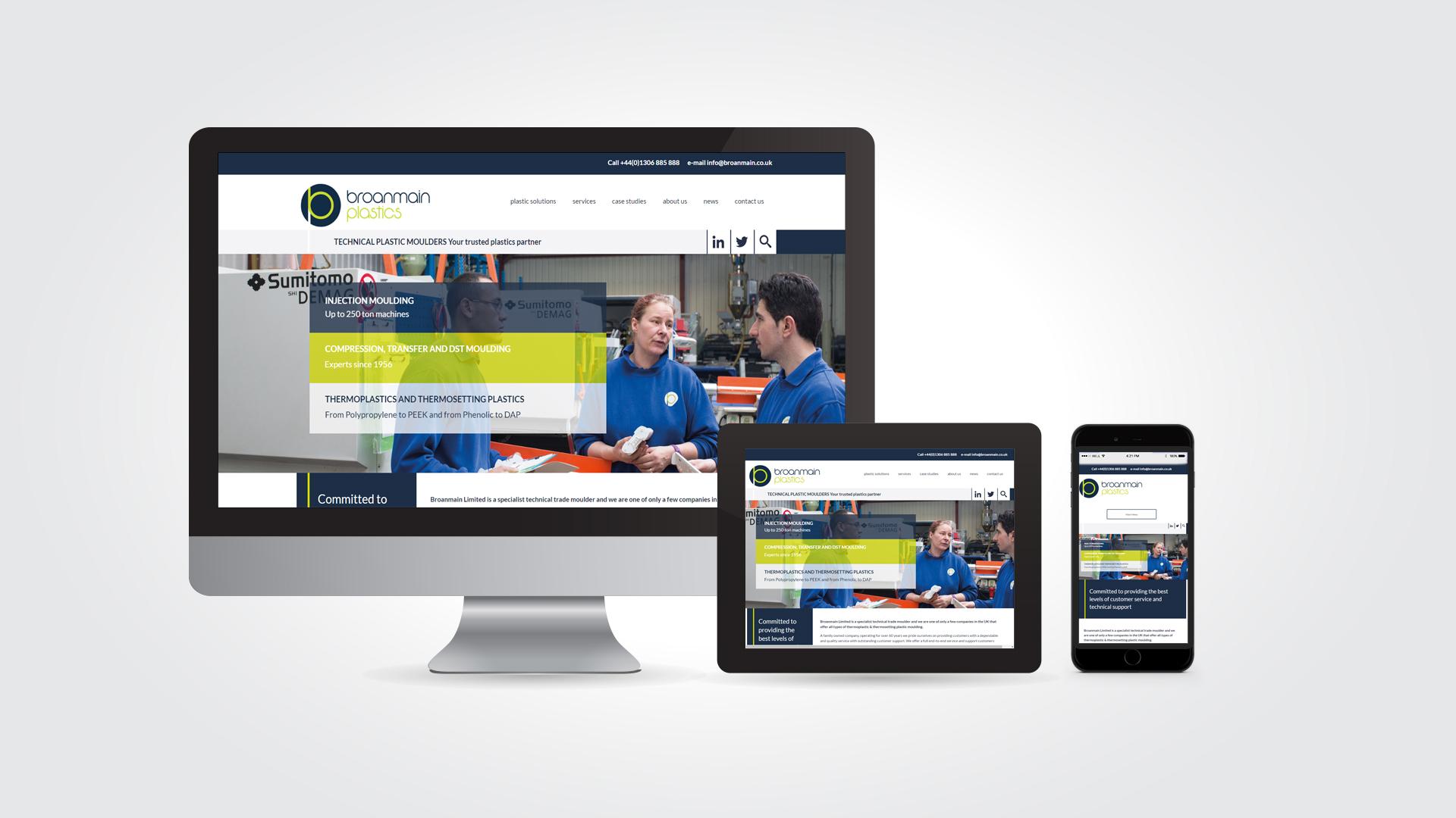 Broanmain Plastics web design by Austin Marketing