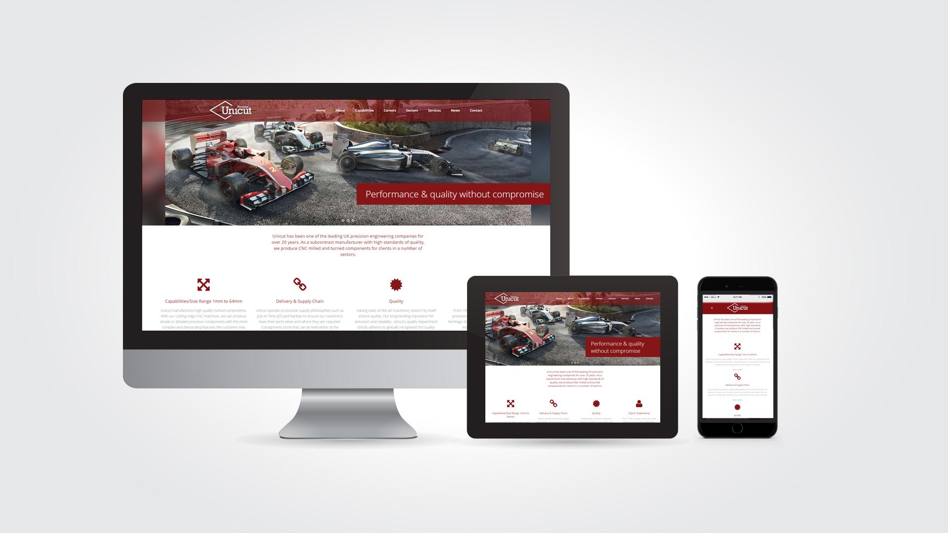 Unicut web design by Austin Marketing